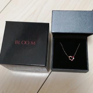 ブルーム(BLOOM)の新品半額♡K10 ピンクゴールド ルビー ハートモチーフ ネックレス(ネックレス)