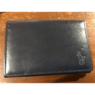 ポロラルフローレン(POLO RALPH LAUREN)のポロラルフローレン カードケース ブラック(名刺入れ/定期入れ)