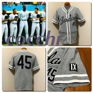 ナイキ(NIKE)のNIKE 正規 ジョーダン IX時代 JORDAN 野球シャツ45 BARONS(シャツ)