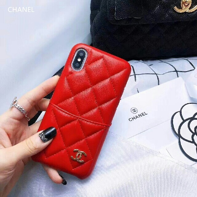 iphone7 ケース 人気 キラキラ | iPhone - シャネル iPhoneケースカバー レッドの通販 by 山下's shop|アイフォーンならラクマ