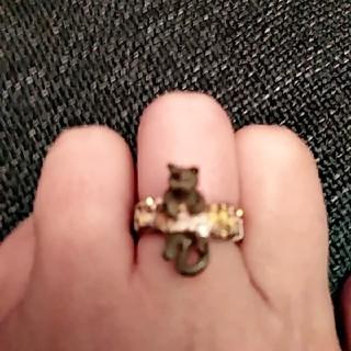 値引き!Palnart Poc ネコちゃんの指輪(リング(指輪))