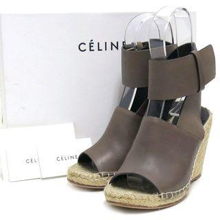 セリーヌ(celine)のCELINE Sandal 80 ストラップ エスパドリーユ サンダル 36(サンダル)