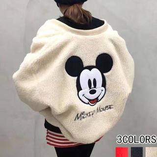 ディズニー(Disney)のミッキーボアブルゾン  (ブルゾン)