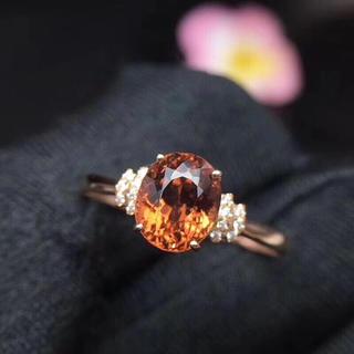 天然トルマリン ダイヤモンド リング(リング(指輪))
