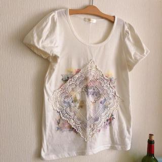 アクシーズファム(axes femme)の半袖Tシャツ レース 水彩 (Tシャツ(半袖/袖なし))