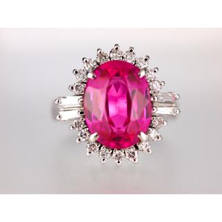 天然ピンク石ダイヤリング(リング(指輪))