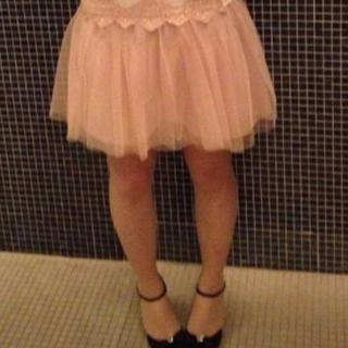 マーキュリーデュオ(MERCURYDUO)のチュチュスカート 美品 チュールスカート ふわふわスカート(ミニスカート)