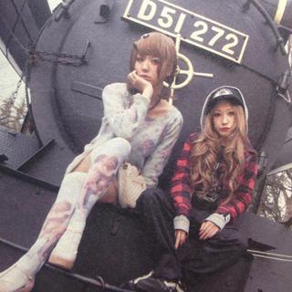 ルビー アンド ユー(RUBY AND YOU)のAMOちゃん私服♡ 花柄ニットワンピース(ミニワンピース)