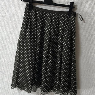 イッツインターナショナル(I.T.'S.international)のスカート フレアスカート ドット柄 美品 イッツインターナショナル(ひざ丈スカート)