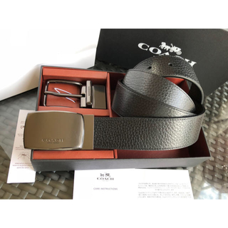 83132c9978e0 Men s Accessories New Coach F59116 F64826 Modern Harness Cut-To-Size  Reversible Leather Belt W Box