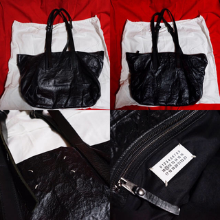 マルタンマルジェラ(Maison Martin Margiela)のメゾン マルタン マルジェラ 皺加工レザートートバッグ(トートバッグ)