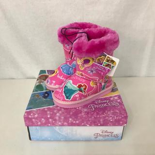 ディズニー(Disney)の新品 ディズニー キッズ 女の子ムートンブーツ プリンセス 17cm ピンク★(ブーツ)