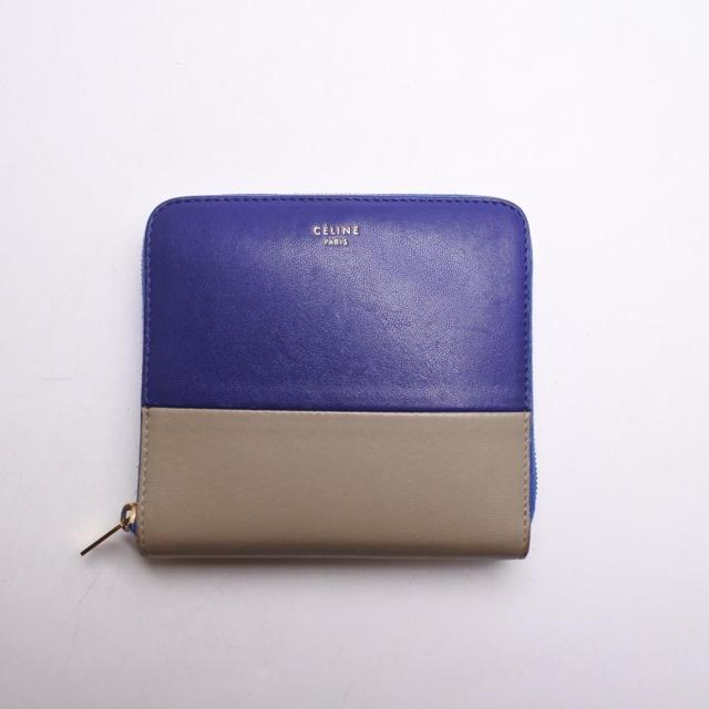 dd5b76b82ee1 celine(セリーヌ)のセリーヌ 二つ折り 財布 バイカラー 中古 箱付き レザー ブルー