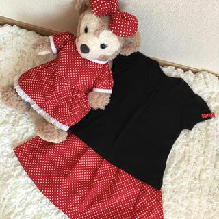 ディズニー(Disney)のハンドメイド 新品 シェリーメイ ワンピース おそろい スカート ミニーちゃん風(人形)