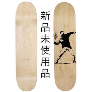 メディコムトイ(MEDICOM TOY)の新品未使用 バンクシー フラワーボンバー スケートボード デッキ (スケートボード)