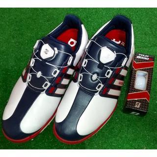 アディダス(adidas)のadidas アディダス ゴルフシューズ:良品 25.5cm:ゴルフボール付き(シューズ)
