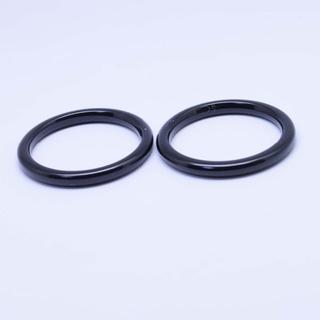 オニキス ブラックオニキス リング サイズ22号 マクラメ・シルバーワイヤー(リング(指輪))