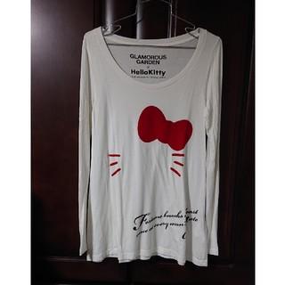 グラマラスガーデン(GLAMOROUS GARDEN)のGRAMOROUS GARDEN × HelloKitty コラボロンT (Tシャツ(長袖/七分))