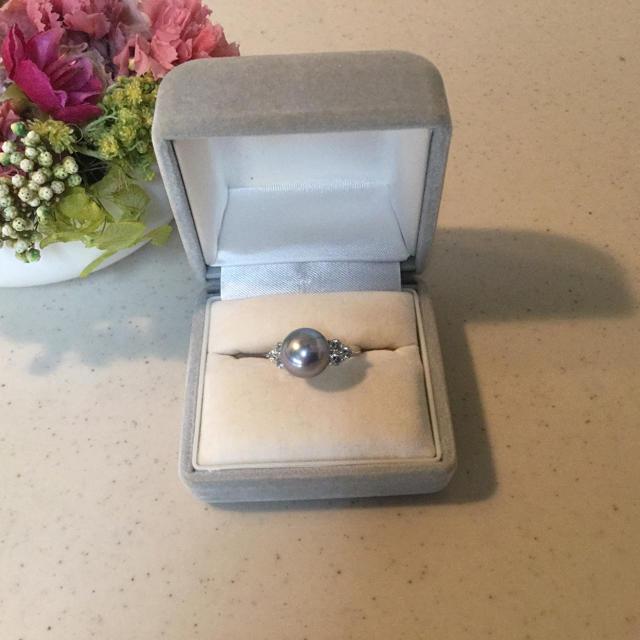 パール リング 指輪 17号 レディースのアクセサリー(リング(指輪))の商品写真