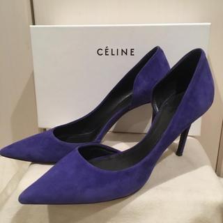 セリーヌ(celine)のCELINE ☆ ロイヤルブルーのスウェードパンプス♪(ハイヒール/パンプス)