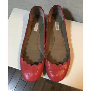 マークジェイコブス(MARC JACOBS)のMARC JACOBS フラットシューズ ピンク(ローファー/革靴)