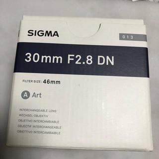 シグマ(SIGMA)の美品Sigma 30mm F2.8 DN ART eマウント ソニー専用(レンズ(単焦点))