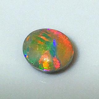 《宝石⚜️ルース》極美品✡️天然ブラックオパール ルース 1.696ct 鑑付(リング(指輪))