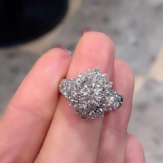 高品質 ダイヤモンド 2.03ct リング 指輪 鑑別書付き 14号 お得(リング(指輪))