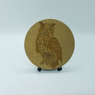 木製コースター ワシミミズク(おもちゃ/ペット小物)
