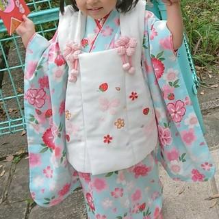 七五三 3歳女児 被布着物セット おまけあり(和服/着物)