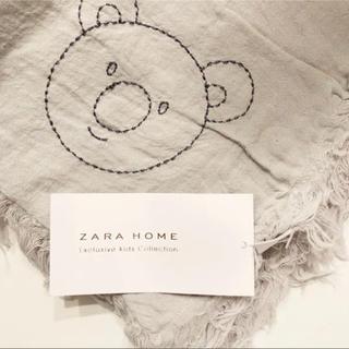 ザラホーム(ZARA HOME)の新品 ZARA HOME ザラホーム KIDS キッズ リネン ブランケット(おくるみ/ブランケット)