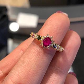 k18 マルチカラー リング ルビー ダイヤモンド(リング(指輪))