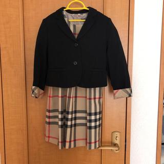 バーバリー(BURBERRY)のBurberry 130  ジャケット入学式結婚式訳ありワンピースおまけ(ドレス/フォーマル)