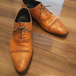 スーツカンパニー(THE SUIT COMPANY)のスーツカンパニー革靴ビジネスシューズ茶色ベージュ(ドレス/ビジネス)