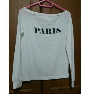 ジーユー(GU)のロンT 白(Tシャツ(長袖/七分))