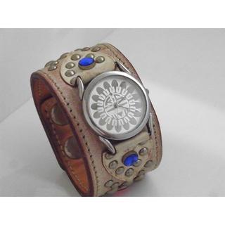 ケイシイズ(KC,s)のKC'S 腕時計 レザー バングル スタッズ(腕時計(アナログ))