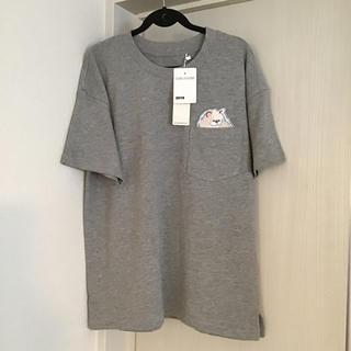 キムジョーンズ(KIM JONES)の【新品未使用】キムジョーンズ ヘビーウェイトTシャツ  胸ポケット付き 猫(Tシャツ(半袖/袖なし))