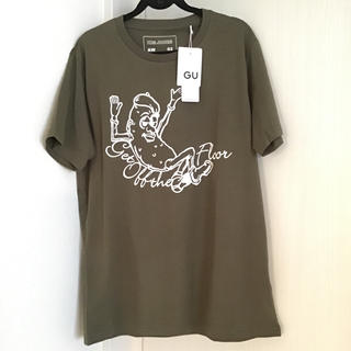 キムジョーンズ(KIM JONES)の【新品未使用】キムジョーンズ GU コラボ Tシャツ ピーナッツ(Tシャツ/カットソー(半袖/袖なし))