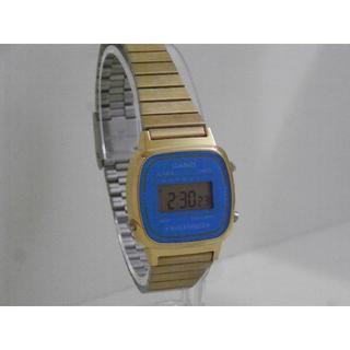 320ab44b3b カシオ(CASIO)のCASIO デジタル腕時計 ゴールド ブルー シンプルデザイン チプカシ(腕時計)