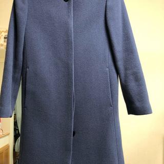 デミルクスビームス(Demi-Luxe BEAMS)のブルー ノーカラー コート(ノーカラージャケット)