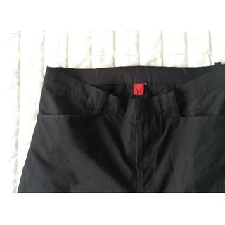 ワイズ(Y's)のY's Red label ブラック 変形パンツ(スラックス)