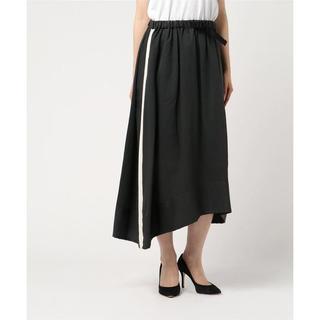 ゴム(gomme)のgomme エクセルツイル サイドテープスカート 定価18,360円 sizeM(ロングスカート)