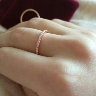 18kピンクゴールドスワロフスキー指輪(リング(指輪))