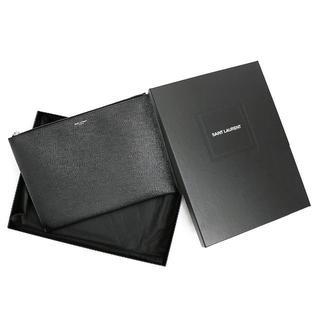 サンローラン(Saint Laurent)の現行品 Saint Laurent クラッチバッグ レザー ブラック A0852(セカンドバッグ/クラッチバッグ)