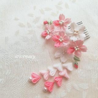 moka様専用 桜のつまみ細工髪飾り(ヘアアクセサリー)