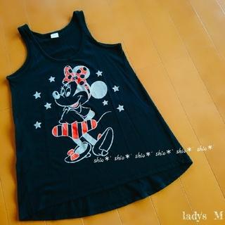 ディズニー(Disney)の【lady's】ミニー プリント タンク チュニック トップス M(タンクトップ)