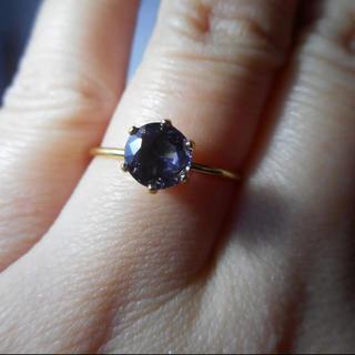 ハンドメイド 天然ブルーパープルスピネル リング(リング(指輪))