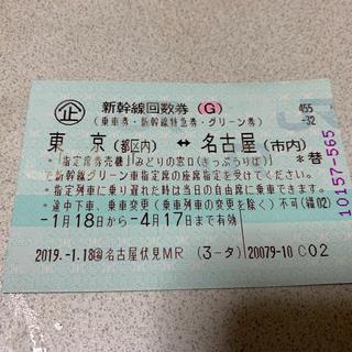 新幹線グリーン車 東京〜名古屋(鉄道乗車券)