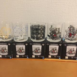 バンダイ(BANDAI)の【新品】キングダムハーツ 一番くじ グラス まとめ売り(グラス/カップ)