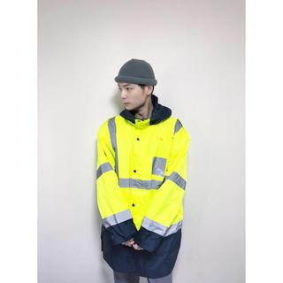 ヨウジヤマモト(Yohji Yamamoto)の希少 ヴィンテージ イギリス警察 軍モノ リフレクター 黄色 ナイロン コート(ナイロンジャケット)